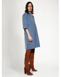 Vetements - Blue Oversized Cotton-jersey T-shirt Dress - Lyst
