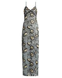 Self-Portrait Multicolor Sophia Floral-embroidered Slip Dress