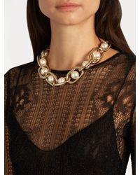 Givenchy | Multicolor Faux-pearl Embellished Necklace | Lyst