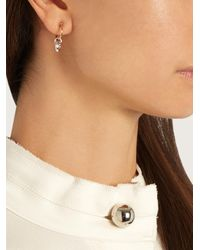 Charlotte Chesnais - Metallic Mini Horn Silver And Gold-plated Earrings - Lyst