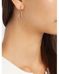 Charlotte Chesnais - Metallic Swing Hook Silver And Gold-plated Earring - Lyst