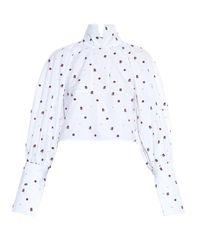 Ellery Multicolor Regency High-Neck Fil Coupé Shirt