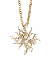 Oscar de la Renta | Metallic Sea Swirl Brooch And Necklace | Lyst