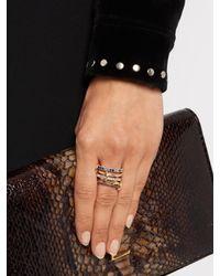 Spinelli Kilcollin | Gray Atlas Sapphire, Tanzanite, Silver & Gold Ring | Lyst
