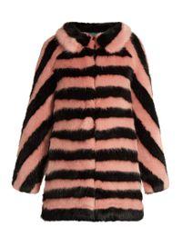 Shrimps | Multicolor Jean Striped Faux-fur Coat | Lyst