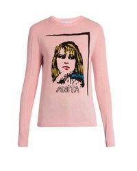 Bella Freud | Black Anita Wool And Cashmere-blend Sweater | Lyst