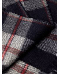Begg & Co | Blue Vigo Tartan Wool And Cashmere-blend Scarf for Men | Lyst