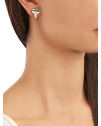 Jacquie Aiche - Green Diamond, Tourmaline, Shark's-tooth & Gold Earring - Lyst