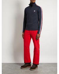 Fusalp Blue Mario Half-zip Stretch-jersey Top for men