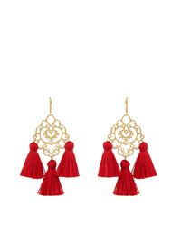 Marte Frisnes | Red Rita Tassel Earrings | Lyst