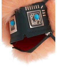 Fendi - Pink Hypnoteyes Fur, Snakeskin And Leather Bag Charm - Lyst