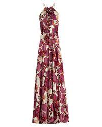 Diane von Furstenberg Pink Veronica Amethsyt print Silk-Chiffon Dress