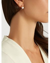 Elise Dray - Multicolor Sapphire, Agate & Pink-gold Earring - Lyst