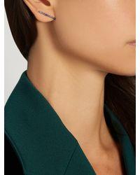 Elise Dray | Multicolor Sapphire & Black-gold Mini Barre Earring | Lyst