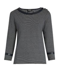 A.P.C. | Blue Cobob Striped Cotton-jersey T-shirt | Lyst