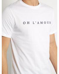 A.P.C. - Black Oh L'amour Crew-neck T-shirt for Men - Lyst
