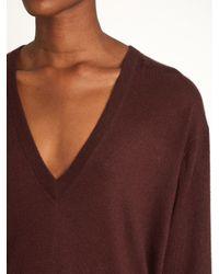 Raey - Blue V-neck Fine-knit Cashmere Sweater - Lyst
