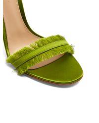 Gianvito Rossi Green Portofino Fringe-trimmed Sandals