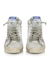 Golden Goose Deluxe Brand White Francy High-top Leather Trainers
