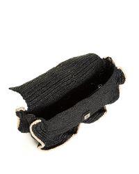 Fendi - Black Baguette Wave Raffia Cross-body Bag - Lyst