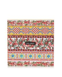 Dolce & Gabbana Red Carretto-print Silk Scarf