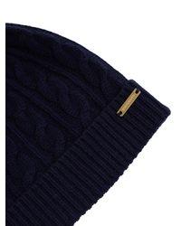 Burberry Blue Fur Pompom Wool And Cashmere-blend Hat