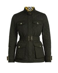 Burberry Green Haddington Quilted Jacket