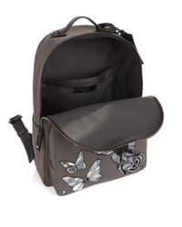 Valentino Multicolor Butterfly Appliqué Canvas Backpack for men