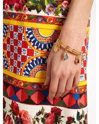 Dolce & Gabbana - Metallic Charm-embellished Bangle - Lyst