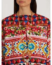 Dolce & Gabbana Metallic Daisy Necklace