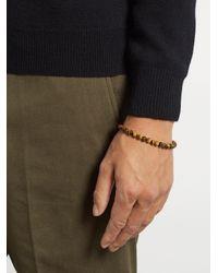 Bottega Veneta - Brown Tiger-eye Stone Bracelet for Men - Lyst