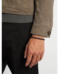 Bottega Veneta | Black Intrecciato Leather Bracelet for Men | Lyst