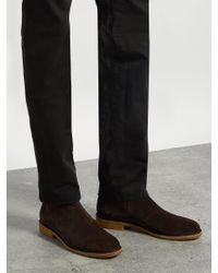 Bottega Veneta Brown Panelled Suede Chelsea Boots for men