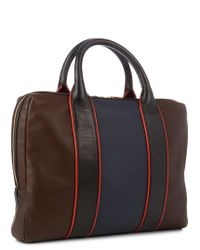 Paul Smith | Multicolor Colour-block Leather Piped Briefcase for Men | Lyst