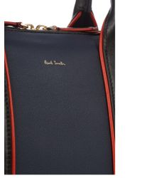 Paul Smith Multicolor Colour-block Leather Piped Briefcase for men