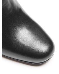 Saint Laurent - Black Babies Leather Ankle Boots - Lyst
