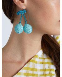 Rosie Assoulin | Blue Cherries Crochet Earrings | Lyst