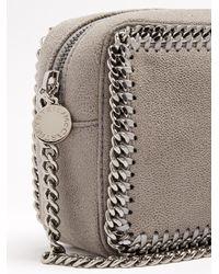 Stella McCartney - Gray Falabella Camera Faux-suede Cross-body Bag - Lyst