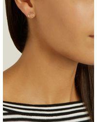 Loren Stewart | Metallic Mini Yellow-gold Earrings | Lyst