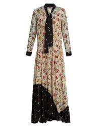 Preen Line | Blue Solange Floral-print Crepe Dress | Lyst