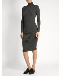 Velvet By Graham & Spencer | Multicolor Lordes Ruched-side High-neck Dress | Lyst