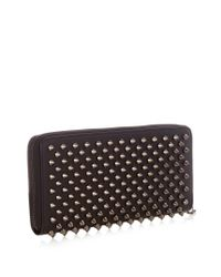Christian Louboutin Black Panettone Spike-embellished Leather Wallet