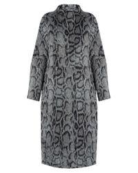 Elizabeth and James   Gray Balin Leopard-print Faux-fur Coat   Lyst