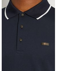 Burberry Blue Adley Cotton-piqué Polo Shirt for men