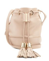 See By Chloé | Natural Vicki Medium Leather Cross-body Bucket Bag | Lyst