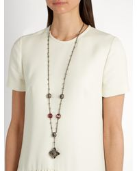 Alexander McQueen - Multicolor Crystal And Pearl-embellished Necklace - Lyst
