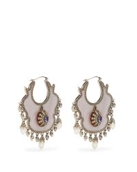 Alexander McQueen - Multicolor Crystal And Pearl-embellished Earrings - Lyst