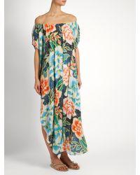 Mara Hoffman Blue Arcadia Indigo-print Cover-up Maxi Dress