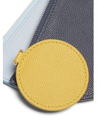 ROKSANDA - Blue Demi-lunette Bi-colour Leather Coin Purse - Lyst
