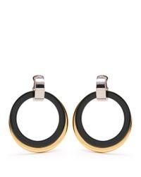 Marni | Metallic Double-hoop Drop Clip-on Earrings | Lyst
